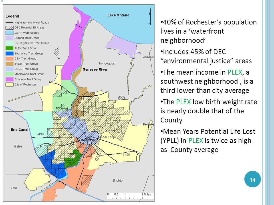 40% of Rochester's population lives in a 'waterfront neighborhood'