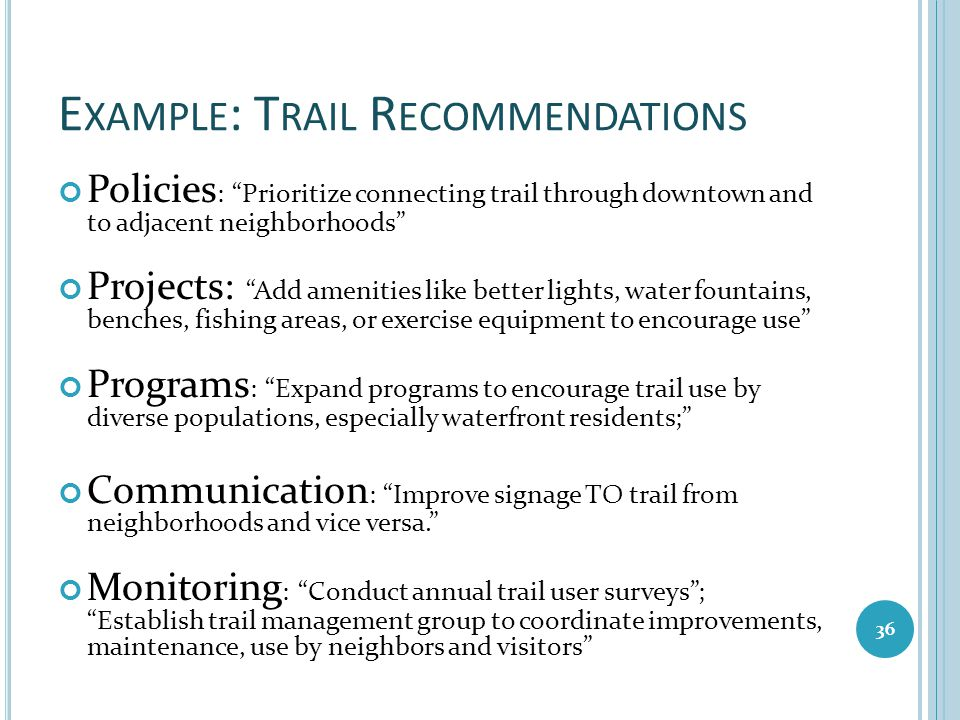 Example: Trail Recommendations