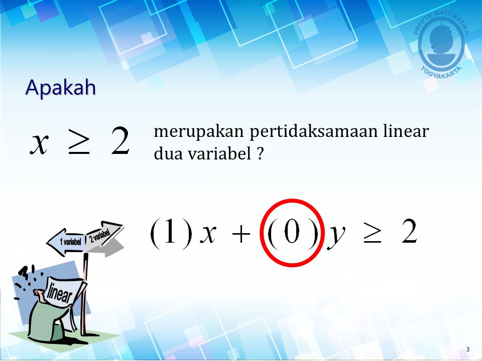 2 variabel 1 variabel linear Apakah