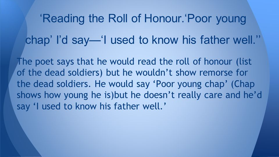 'Reading the Roll of Honour