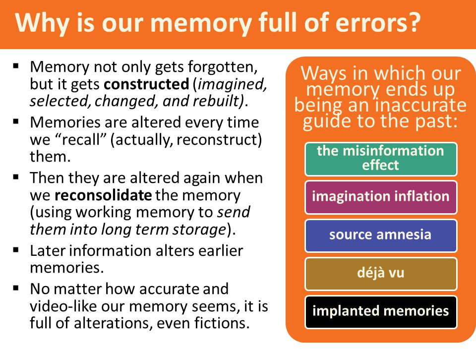 Why is our memory full of errors