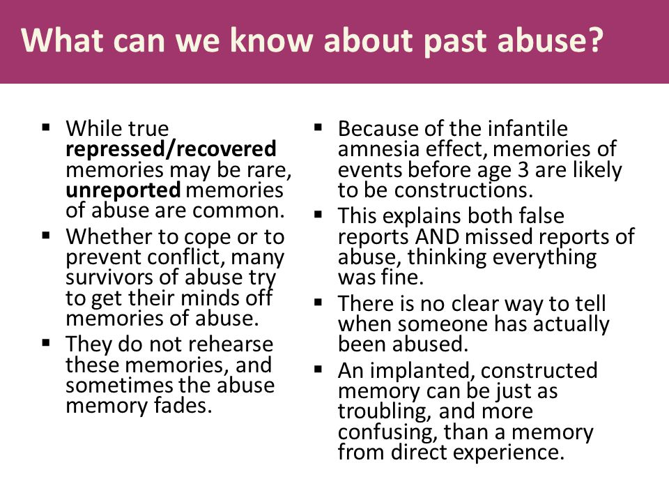 What can we know about past abuse