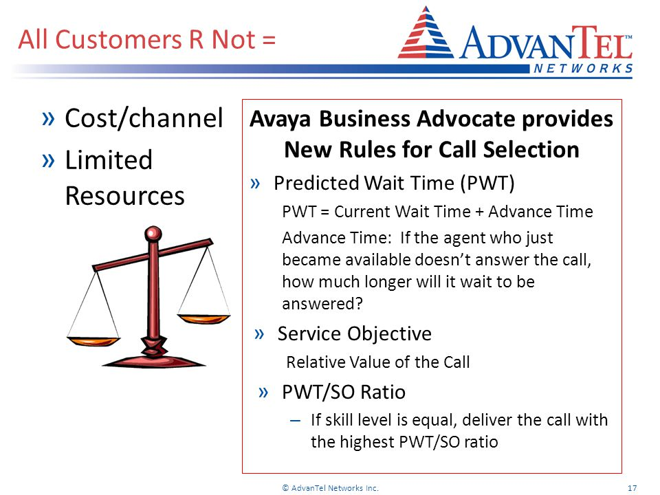 Avaya Business Advocate provides New Rules for Call Selection