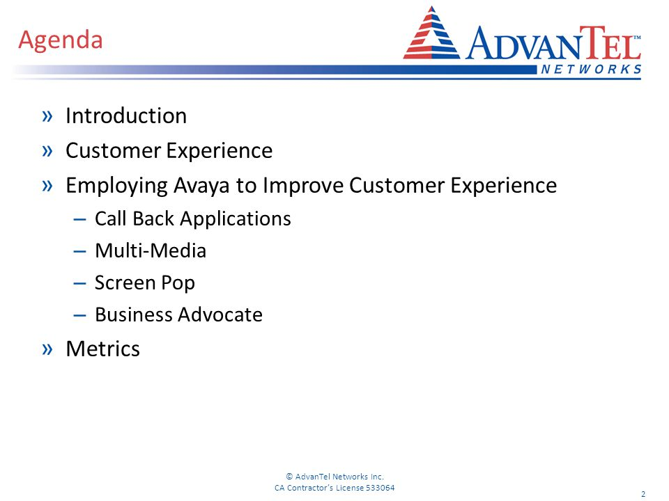 Agenda Introduction Customer Experience