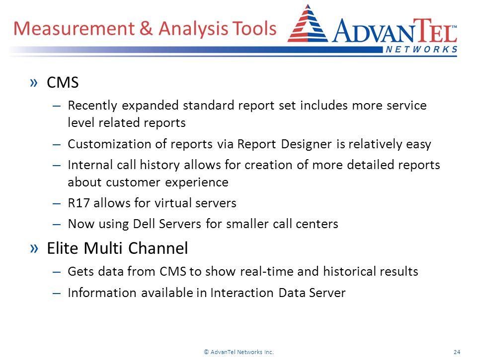 Measurement & Analysis Tools