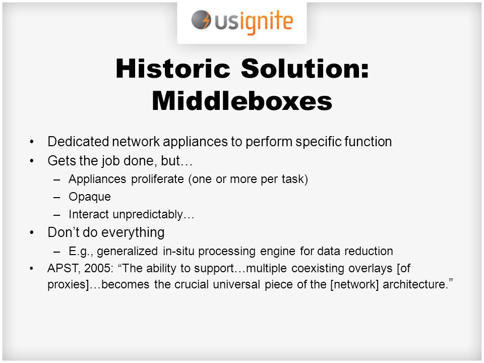 Historic Solution: Middleboxes