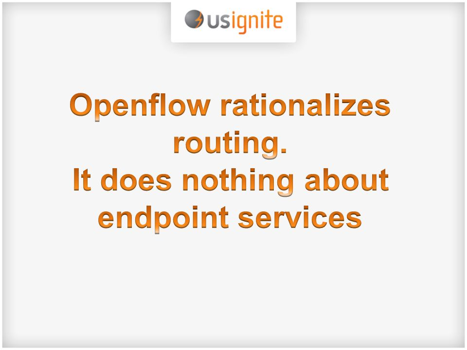 Openflow rationalizes