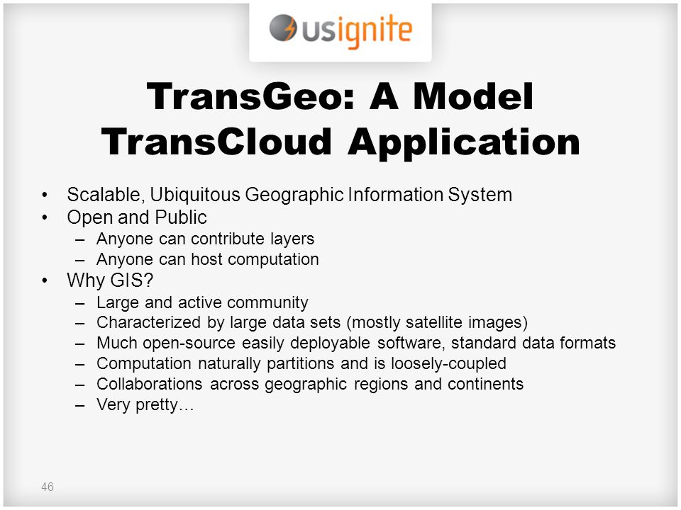 TransGeo: A Model TransCloud Application