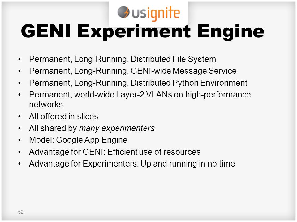 GENI Experiment Engine