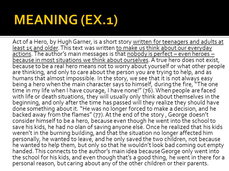 MEANING (EX.1)