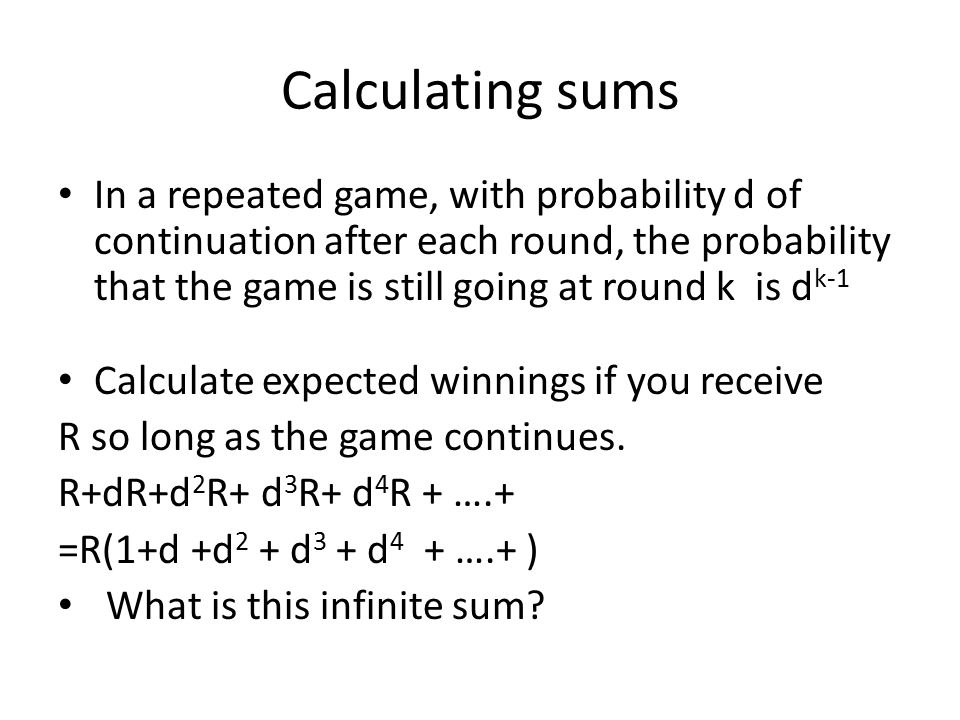 Calculating sums