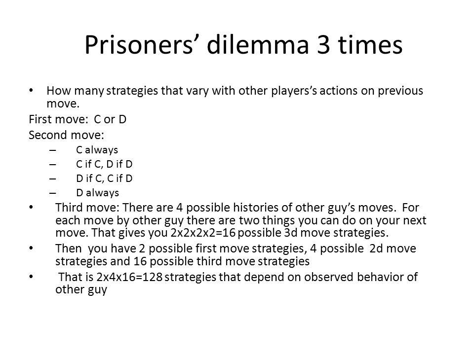 Prisoners' dilemma 3 times