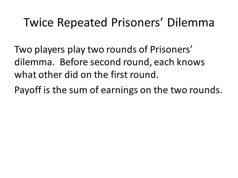 Twice Repeated Prisoners' Dilemma