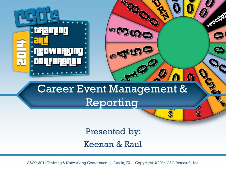 Career Event Management & Reporting