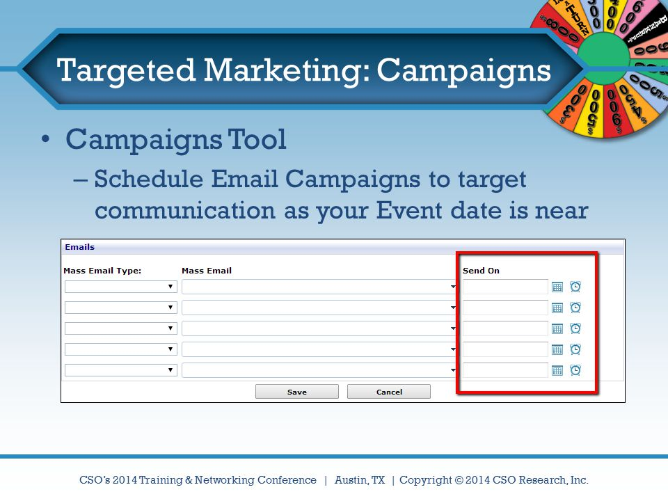 Targeted Marketing: Campaigns