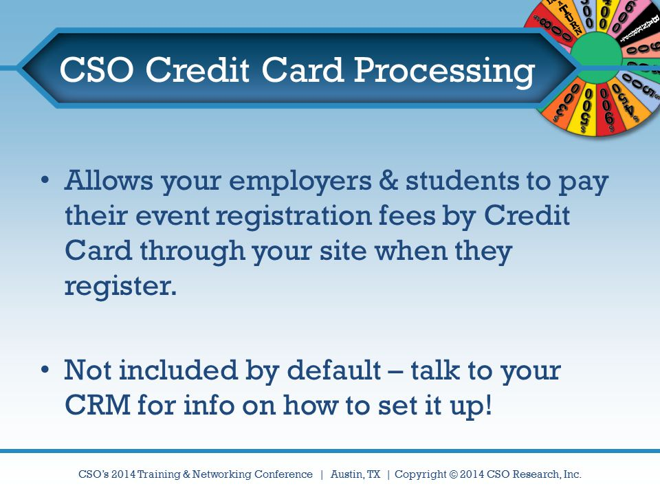 CSO Credit Card Processing