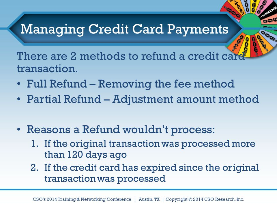 Managing Credit Card Payments