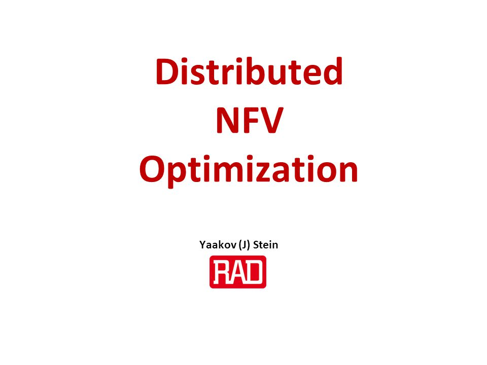 Distributed NFV Optimization