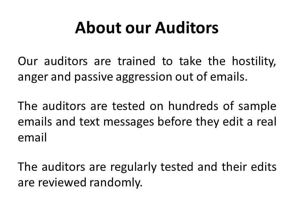 About our Auditors