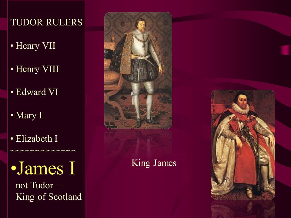 James I not Tudor – King of Scotland