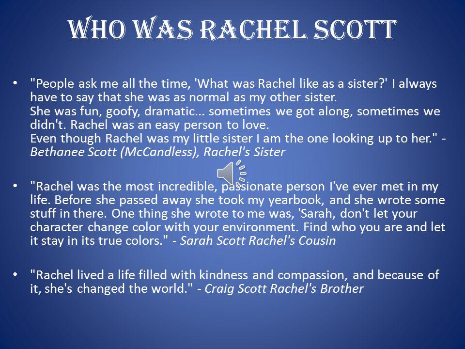 Who Was Rachel Scott