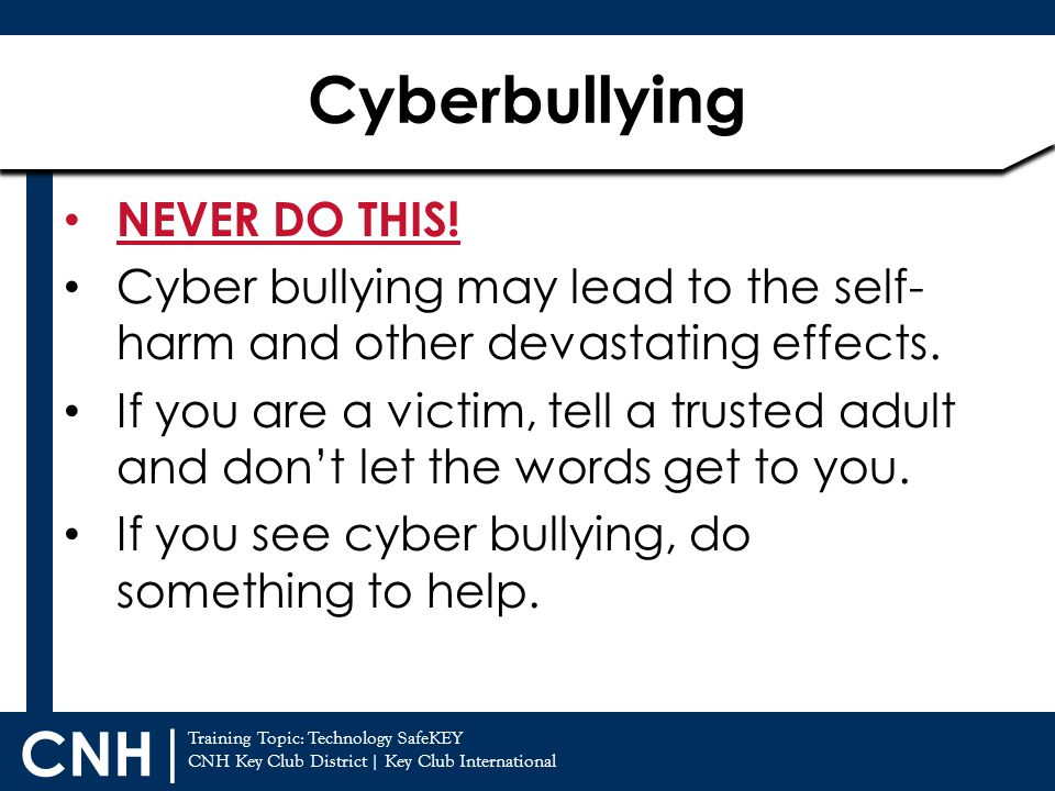 Cyberbullying NEVER DO THIS!