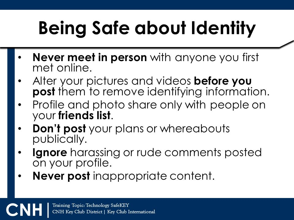 Being Safe about Identity