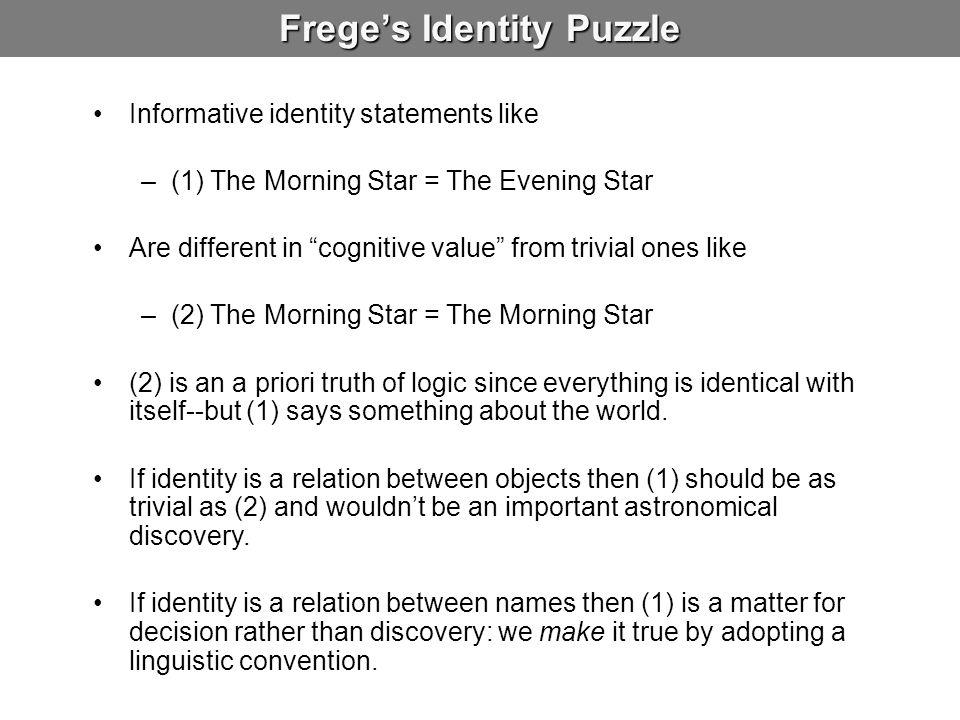 Frege's Identity Puzzle