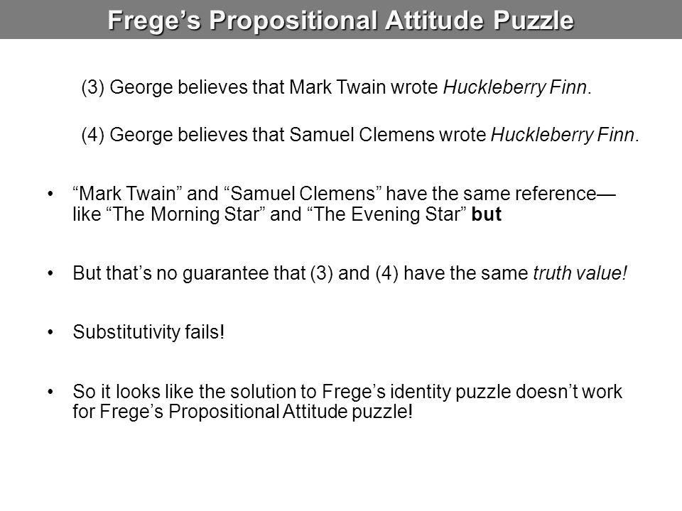 Frege's Propositional Attitude Puzzle