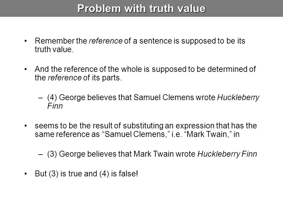 Problem with truth value