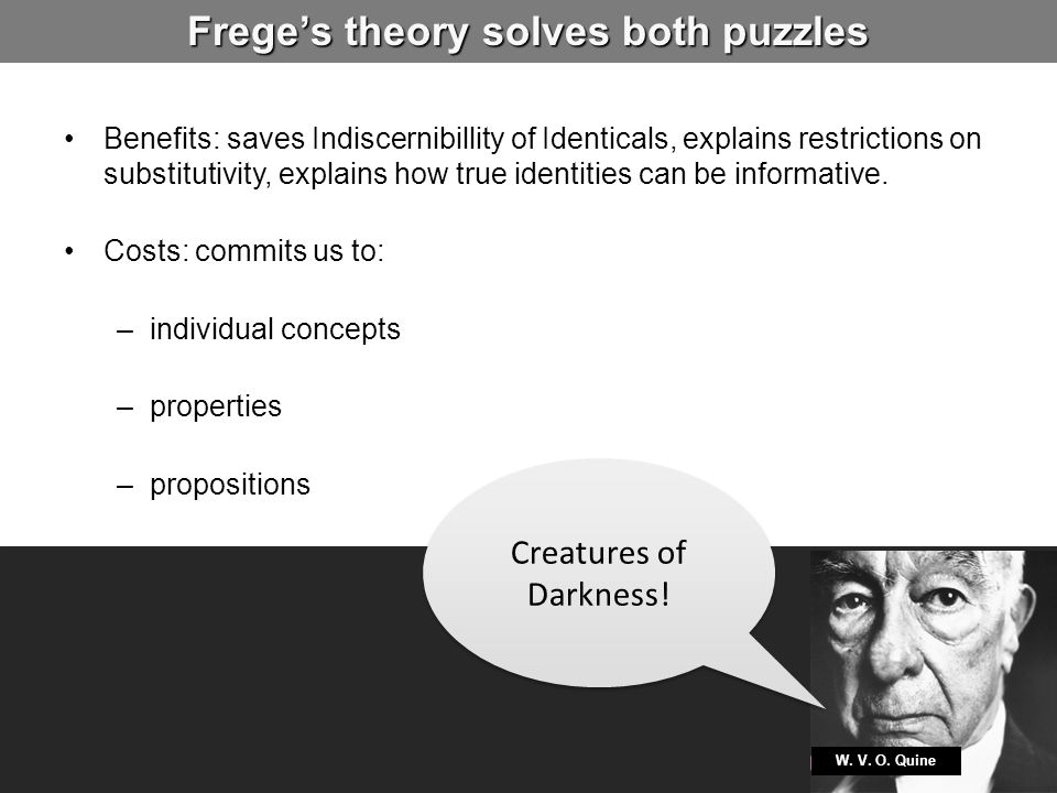 Frege's theory solves both puzzles