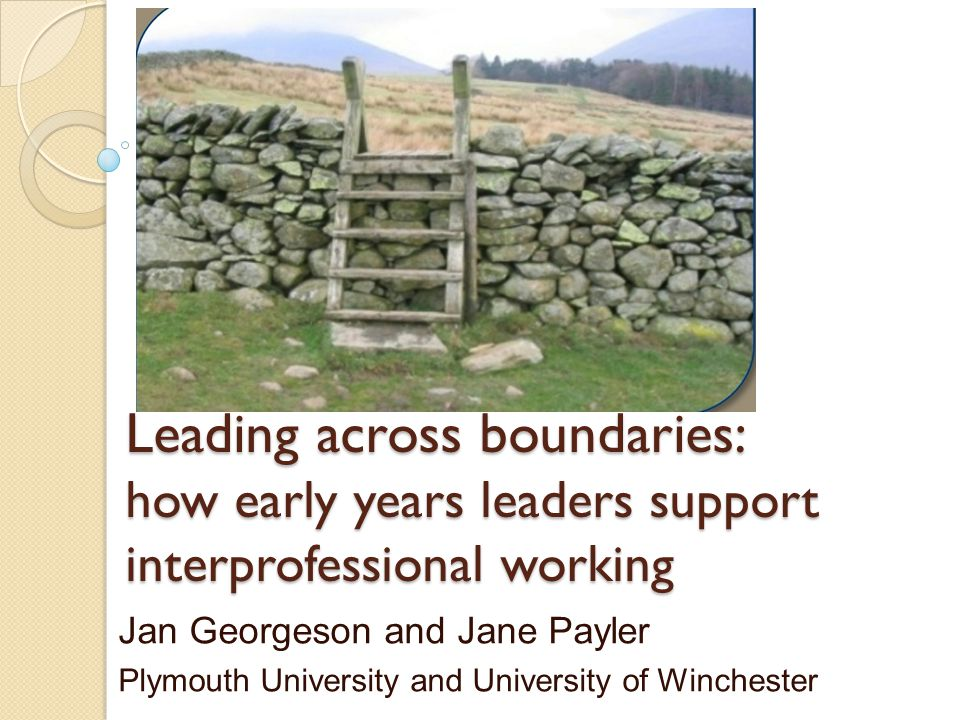 Leading across boundaries: how early years leaders support interprofessional working