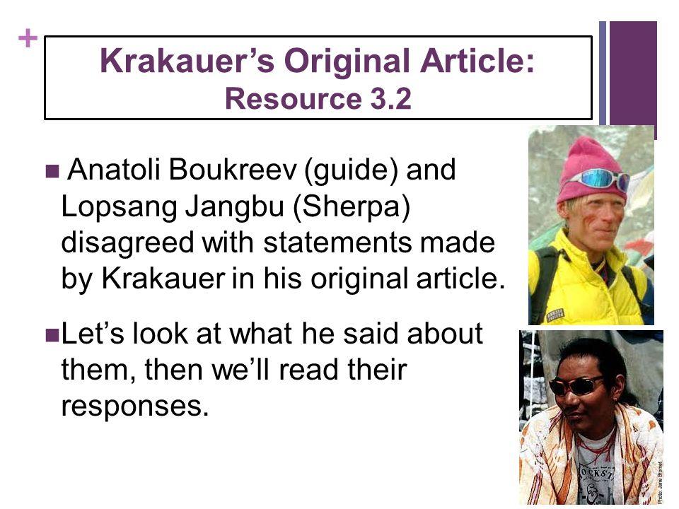 Krakauer's Original Article: Resource 3.2