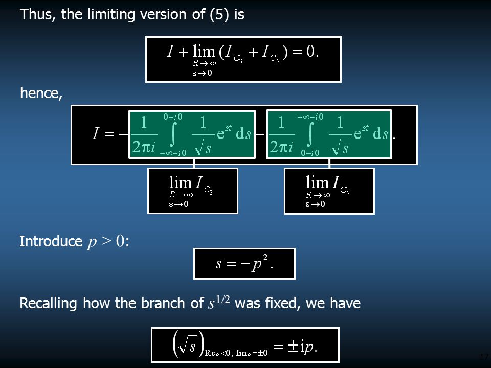 Thus, the limiting version of (5) is