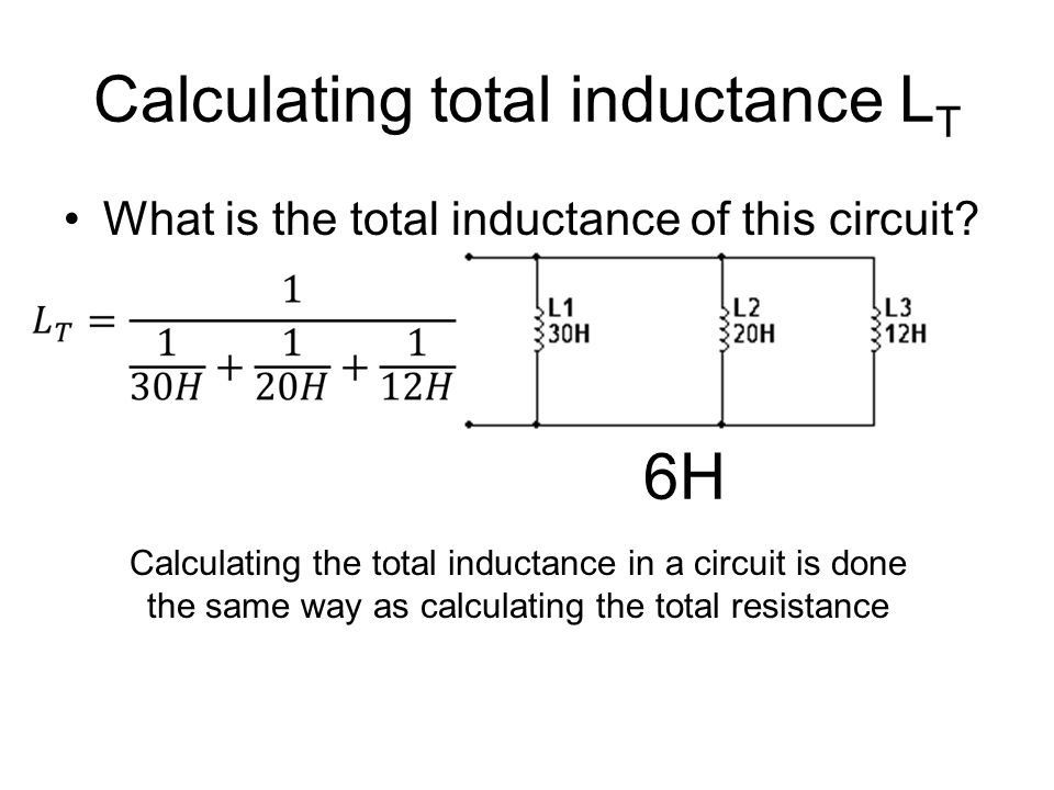 Calculating total inductance LT
