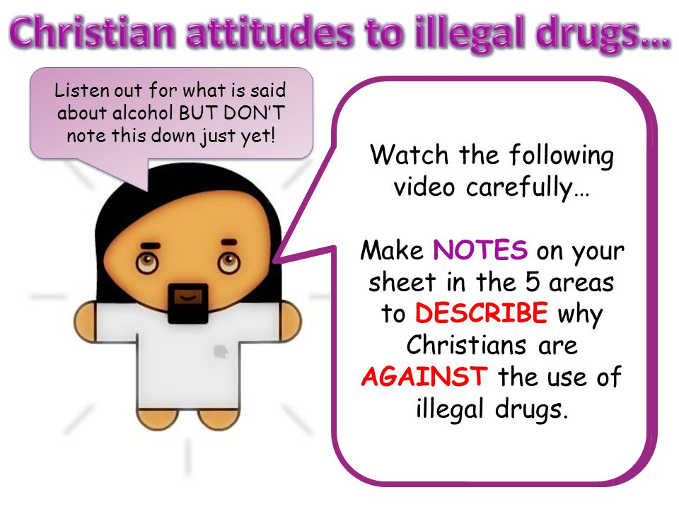 Christian attitudes to illegal drugs…