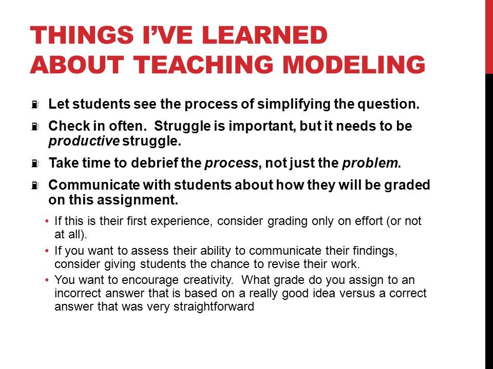 Things I've learned about teaching modeling