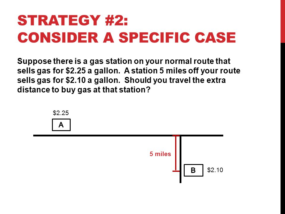 Strategy #2: Consider a specific case