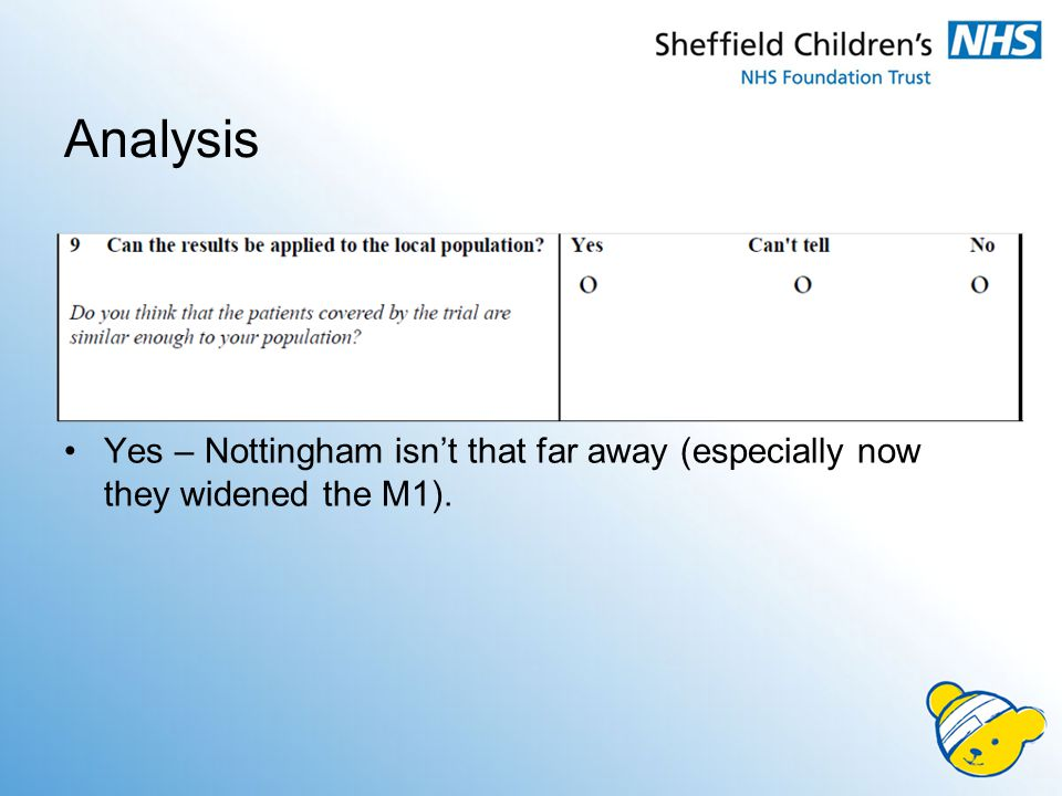 Analysis Yes – Nottingham isn't that far away (especially now they widened the M1).