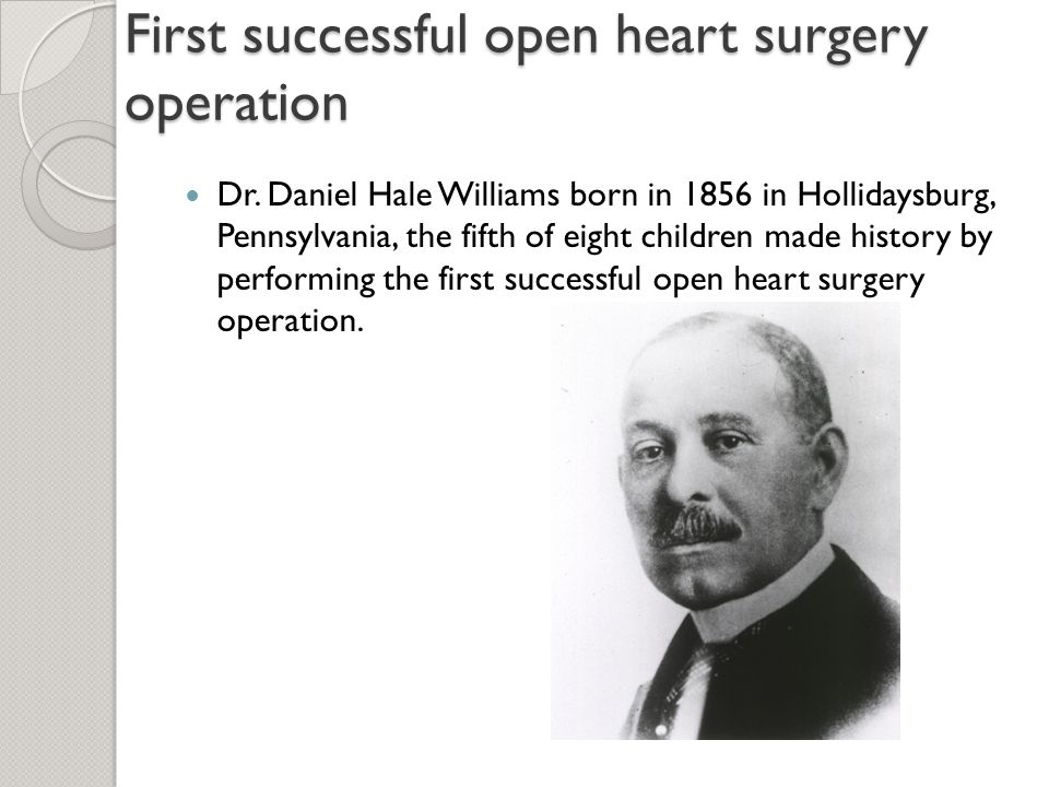 First successful open heart surgery operation