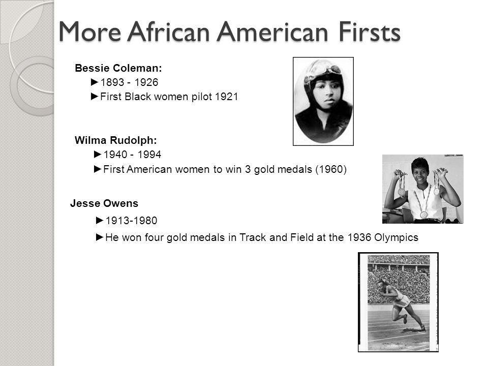 More African American Firsts
