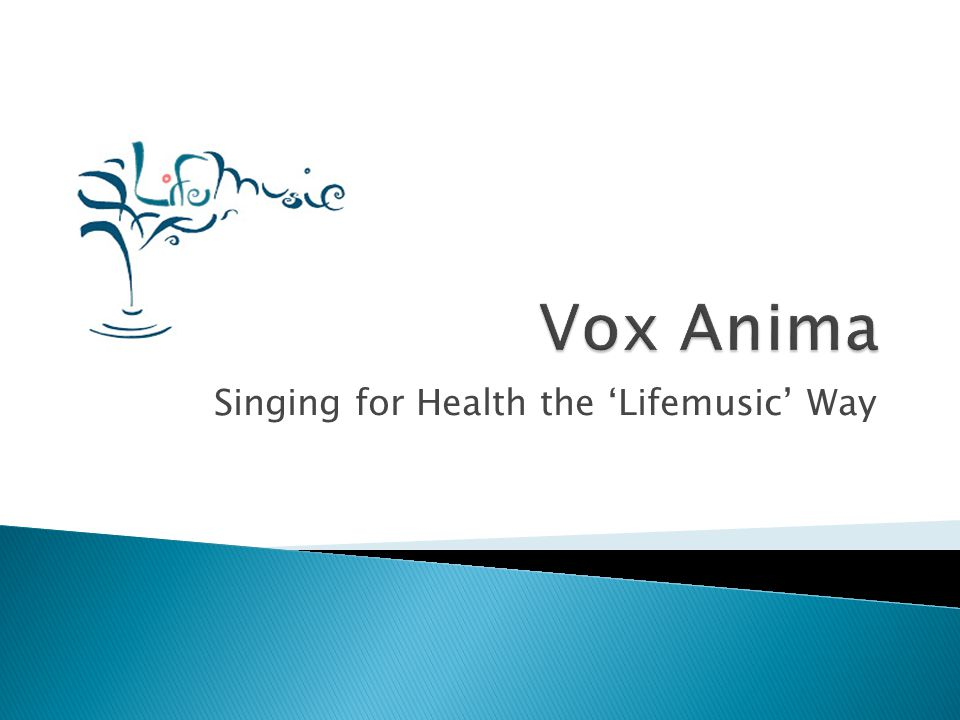 Singing for Health the 'Lifemusic' Way