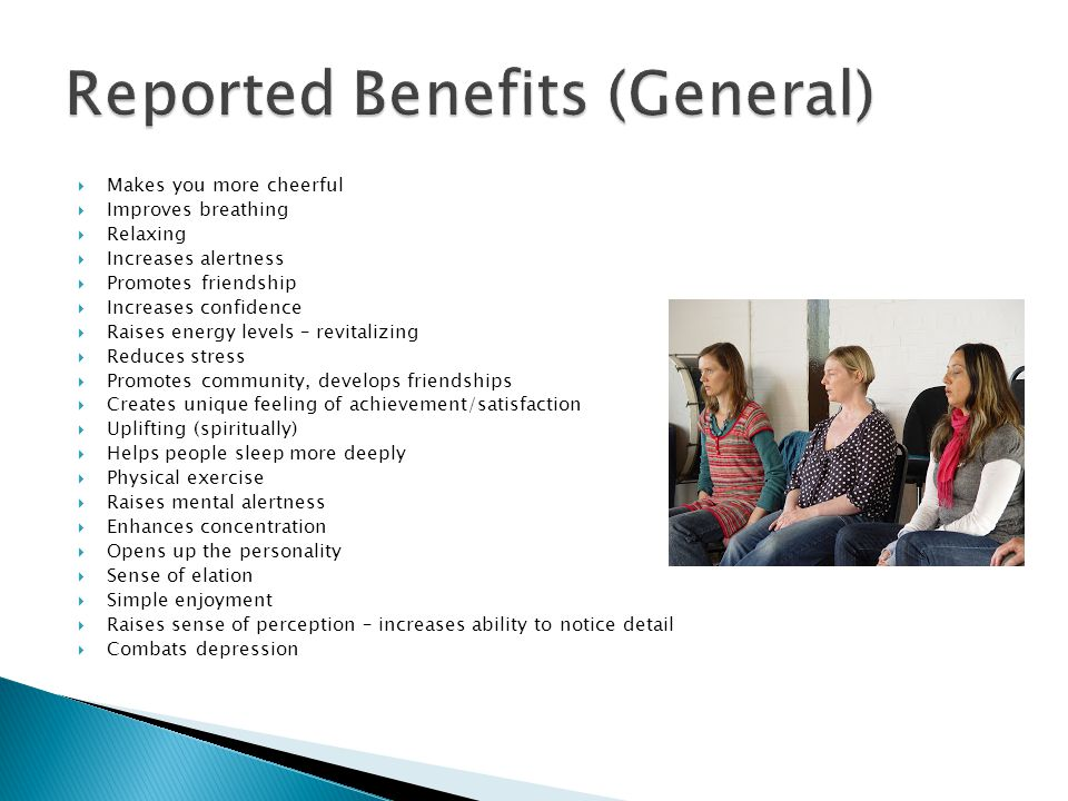 Reported Benefits (General)