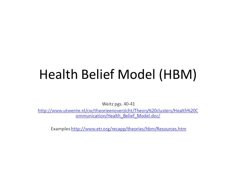 Health Belief Model (HBM)