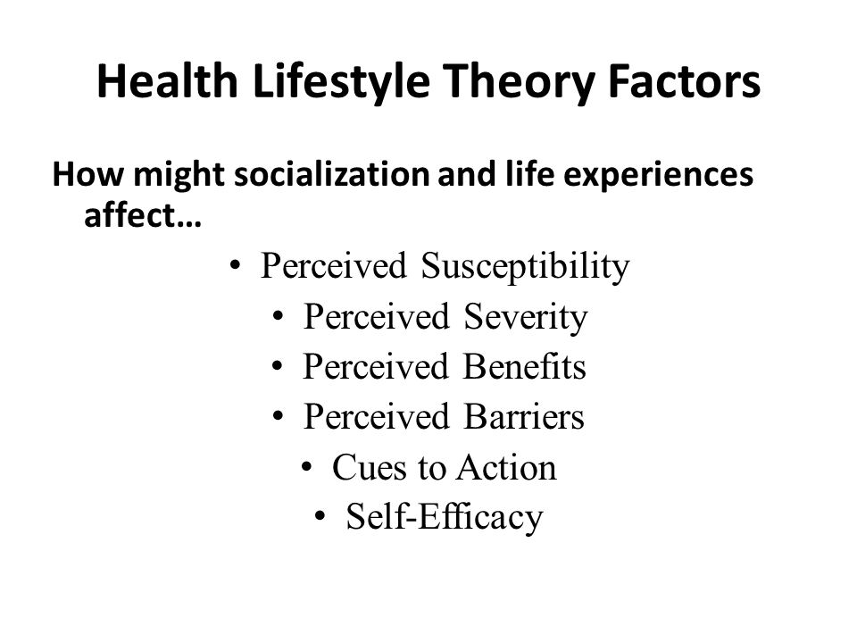 Health Lifestyle Theory Factors