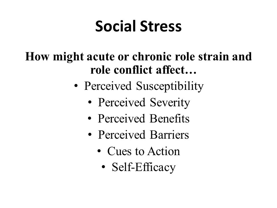 How might acute or chronic role strain and role conflict affect…