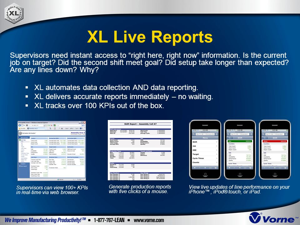 XL Live Reports