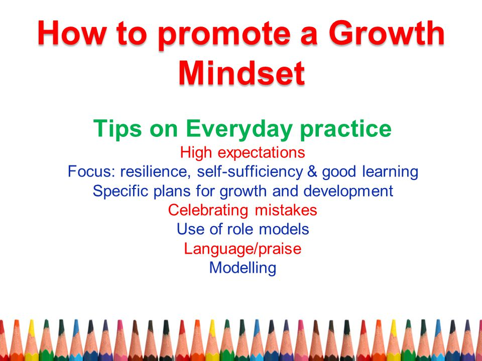 How to promote a Growth Mindset