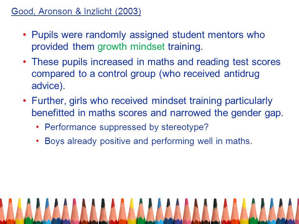 Good, Aronson & Inzlicht (2003)