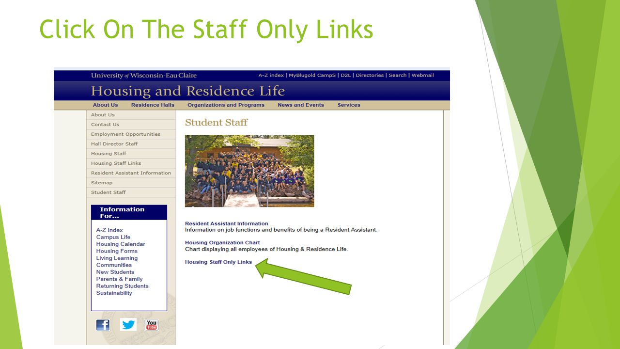 Click On The Staff Only Links